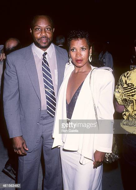 Actor Roger E Mosley and girlfriend Toni Laudermick attend CBS Television's Special Press Dinner Party to Celebrate the Network's Returning Series on...