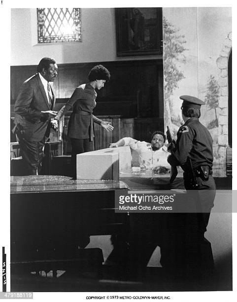 Actor Roger E Mosley in a scene from the MGM movie Sweet Jesus Preacherman circa 1973