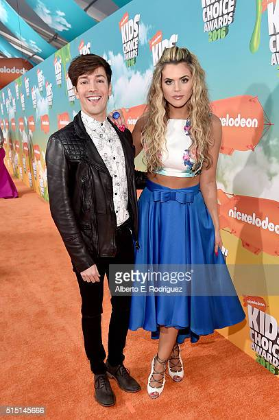 Actor Roger González and actress/singer Isabella Castillo attend Nickelodeon's 2016 Kids' Choice Awards at The Forum on March 12 2016 in Inglewood...