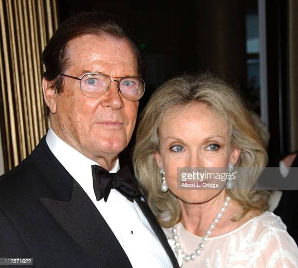 Actor Roger Moore and wife Christina 'Kiki' Tholstrup arrive at The Thalians 52nd Anniversary Gala honoring him to benefit The Thalians Mental Health...