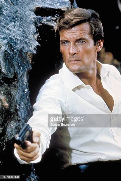 Actor Roger Moore on the set of 'The Man With The Golden Gun'
