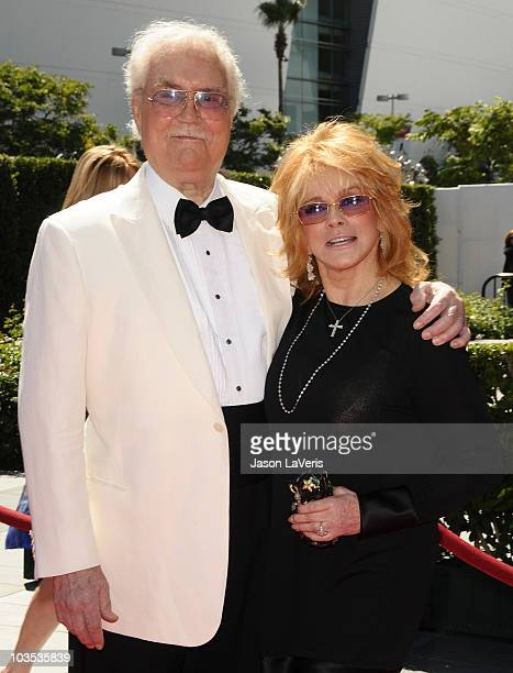 Actor Roger Smith and actress AnnMargret attend the 2010 Creative Arts Emmy Awards at Nokia Plaza LA LIVE on August 21 2010 in Los Angeles California
