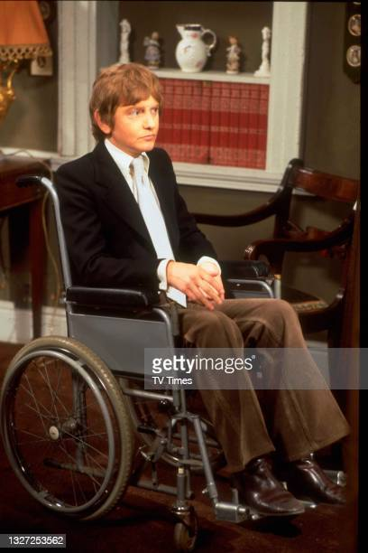 Actor Roger Tonge in character as Sandy Richardson in television soap Crossroads, circa 1970.