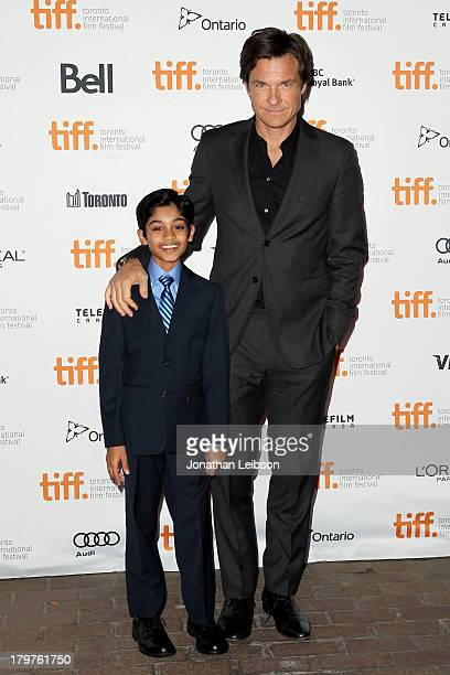 Actor Rohan Chand and director/producer/actor Jason Bateman arrive at the Bad Words premiere during the 2013 Toronto International Film Festival at...