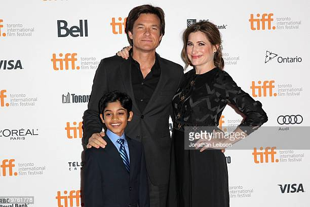 Actor Rohan Chand director/producer/actor Jason Bateman and actress Kathryn Hahn arrive at the Bad Words premiere during the 2013 Toronto...