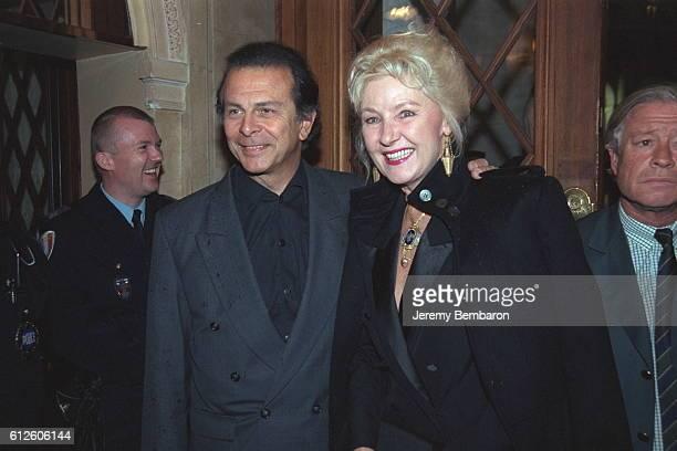Actor Roland Giraud with his wife Maaike Jansen
