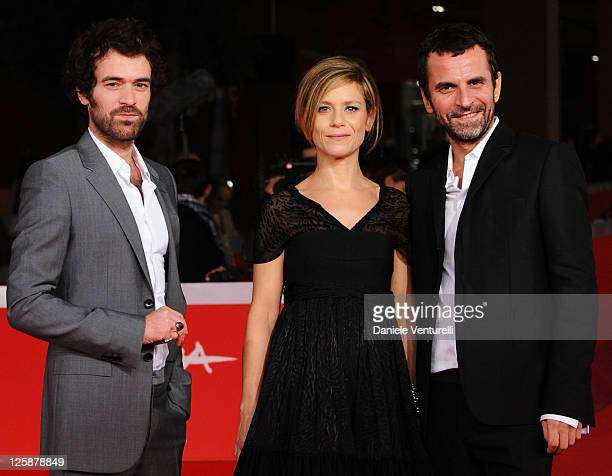 Actor Romain Duris actress Marina Fois and director Eric Lartigau attend the 'L'Homme Qui Voulait Vivre Sa Vie' Premiere during the 5th International...