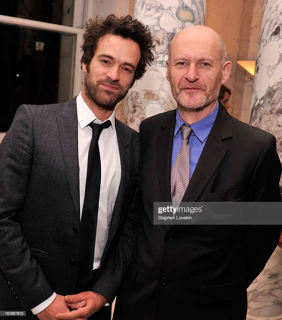 Actor Romain Duris and UniFrance Films President Jean-Paul Salome attend the after party for the U.S. premiere of POPULAIRE, hosted by The Film Society of Lincoln Center, UniFrance Films, and The Weinstein Company at The French Embassy on February 28, 2013 in New York City.
