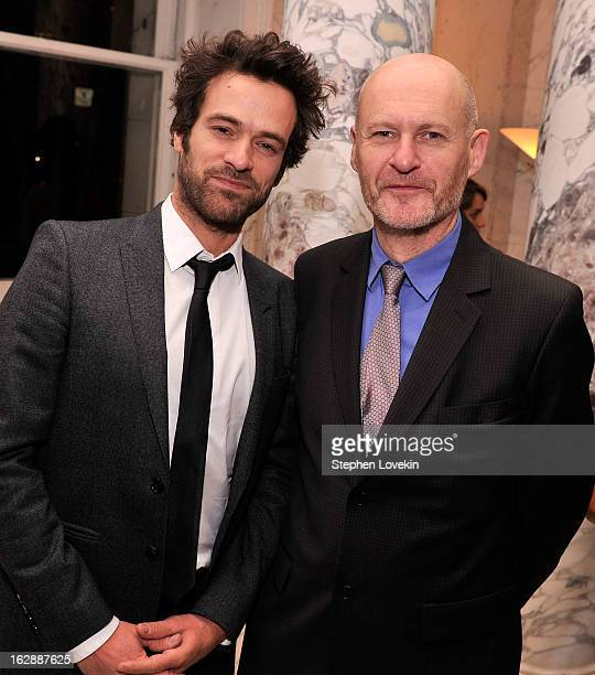 Actor Romain Duris and UniFrance Films President JeanPaul Salome attend the after party for the US premiere of POPULAIRE hosted by The Film Society...