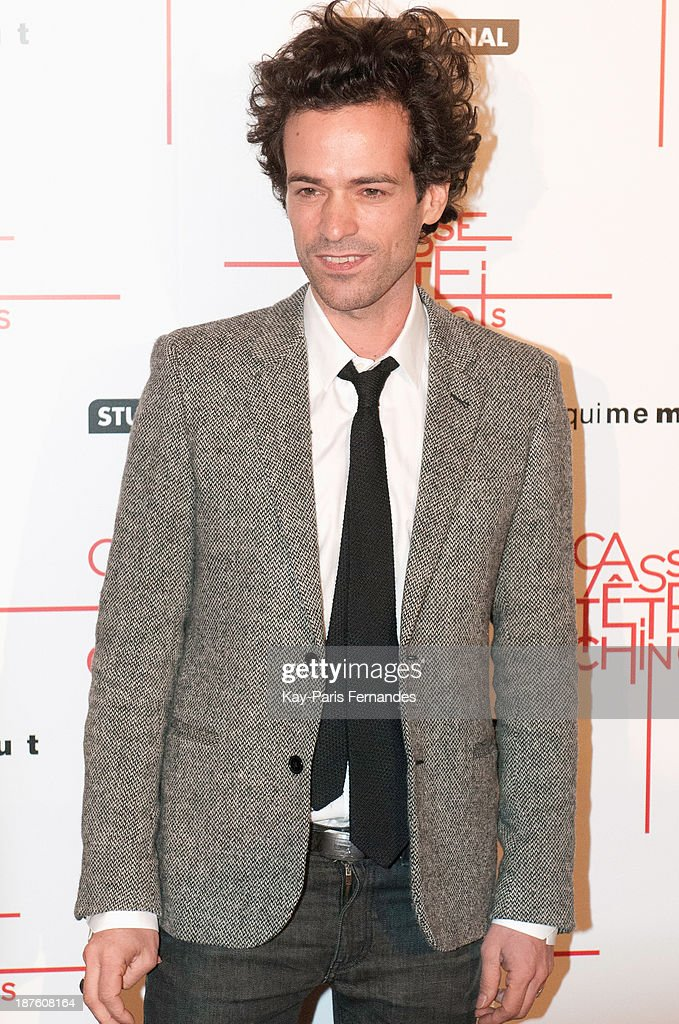Actor Romain Duris attends the 'Casse Tete Chinois' Paris Premiere at Le Grand Rex on November 10, 2013 in Paris, France.