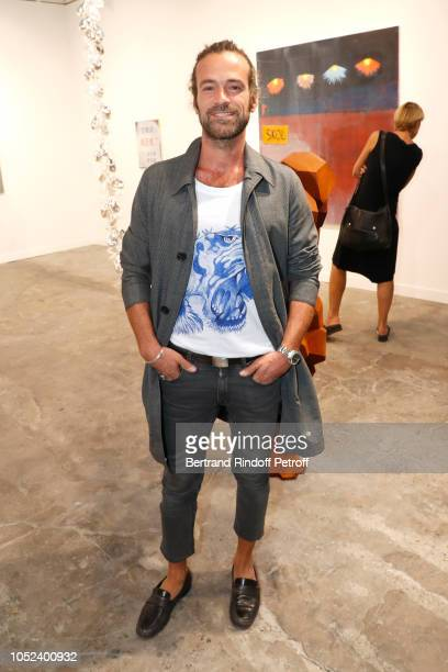 Actor Romain Duris attends the FIAC 2018 International Contemporary Art Fair Press Preview at Grand Palais on October 17 2018 in Paris France