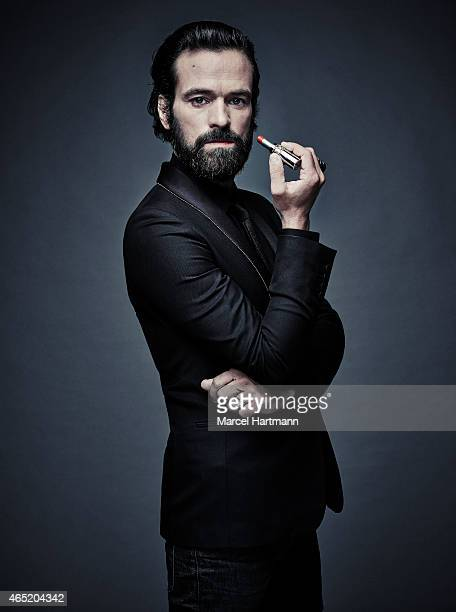 Actor Romain Duris is photographed for Self Assignment on July 30 2014 in Paris France