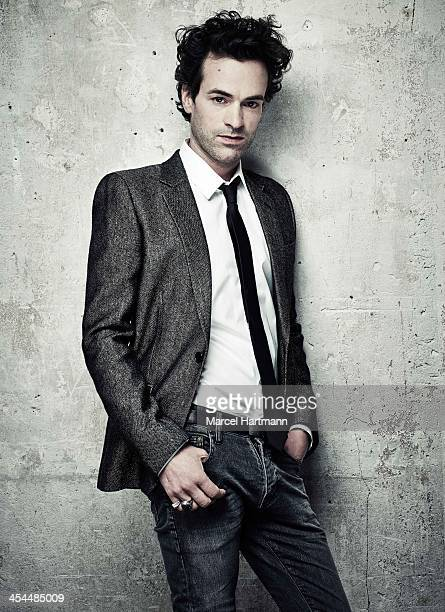 Actor Romain Duris is photographed for TGV magazine on November 1 2013 in Paris France