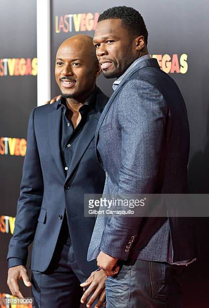 Actor Romany Malco and Actor/rapper Curtis '50 Cent' Jackson attend the 'Last Vegas' premiere at the Ziegfeld Theater on October 29 2013 in New York...