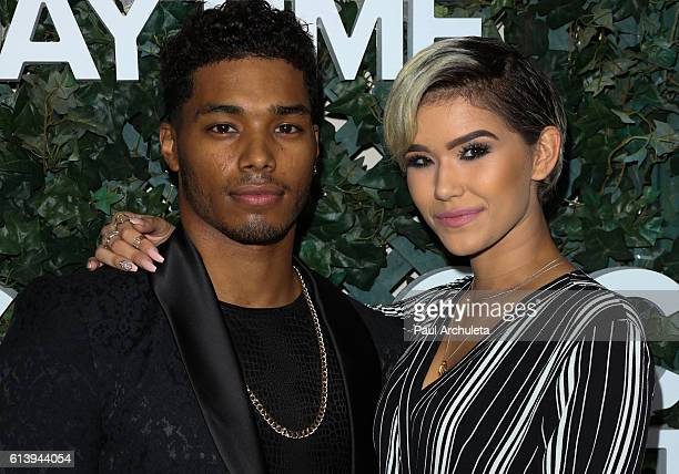 Actor Rome Flynn and Fashion Model Camia Marie attend the CBS Daytime For 30 Years celebration at The Paley Center for Media on October 10 2016 in...