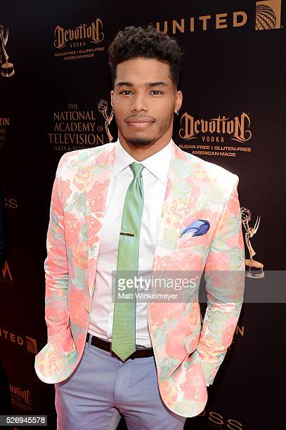 Actor Rome Flynn walks the red carpet at the 43rd Annual Daytime Emmy Awards at the Westin Bonaventure Hotel on May 1 2016 in Los Angeles California