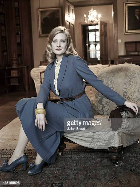 Actor Romola Garai is photographed on set of Glorious 39 written and directed by Stephen Poliakoff photographed for Tatler magazine on November 14...
