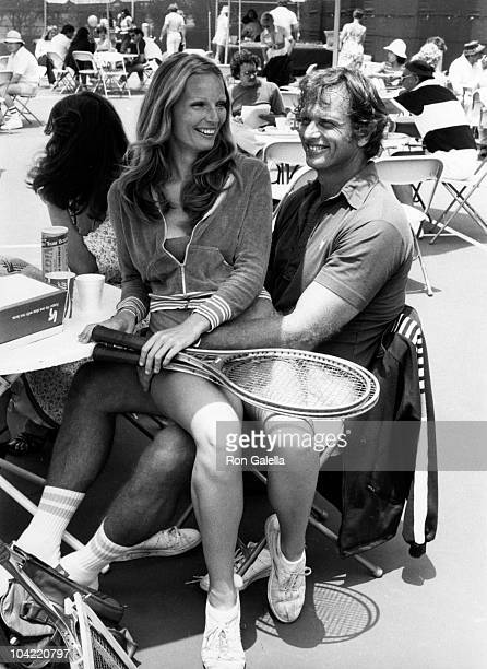 Actor Ron Ely and wife Valerie Lundeen attend Third Annual Cathy's ProCelebrity Tennis Classic on June 25 1977 at Billy Jean King Tennis Stadium at...