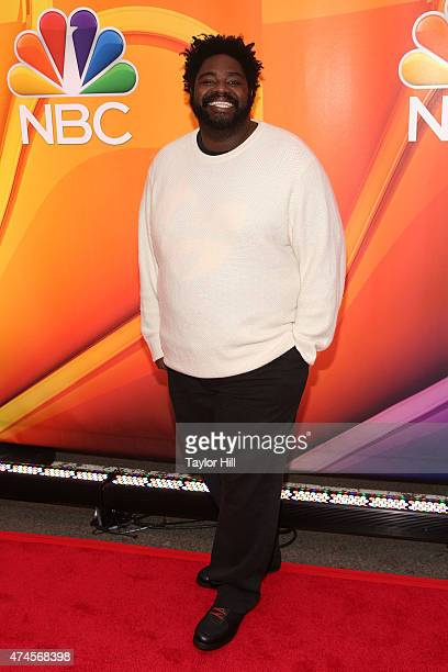 Actor Ron Funches attends the 2015 NBC Upfront Presentation red carpet event at Radio City Music Hall on May 11 2015 in New York City