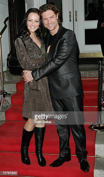 "Actor Ron Holzschuh and actress Kristina Doerfer arrive at the Berlin premiere of ""Dance of the Vampires"" at the Theater des Westens December 10,..."