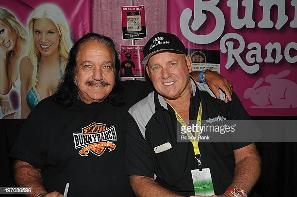 """Actor Ron Jeremy and Dennis Hof owner of the """"Moonlite Bunny Ranch"""" attend Exxotica Day 1 at New Jersey Convention and Exposition Center on November..."""