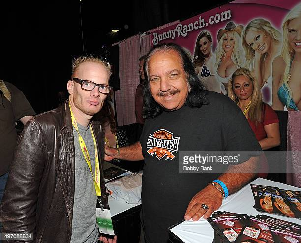 Actor Ron Jeremy and Medicated Pete McHeffey attend Exxotica Day 1 at New Jersey Convention and Exposition Center on November 13 2015 in Edison New...