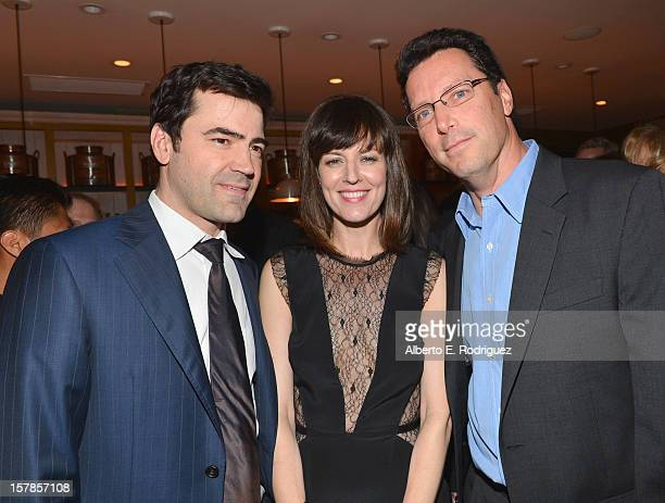 Actor Ron Livingston actress Rosemarie DeWiitt and Andrew Karpen President of Focus Features attend the after party for the premiere of Focus...