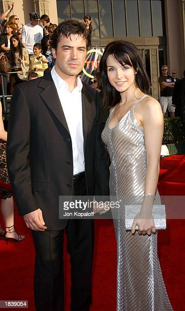 Actor Ron Livingston and Lisa Sheridan attend the 9th Annual Screen Actors Guild Awards at the Shrine Auditorium on March 9 2003 in Los Angeles...