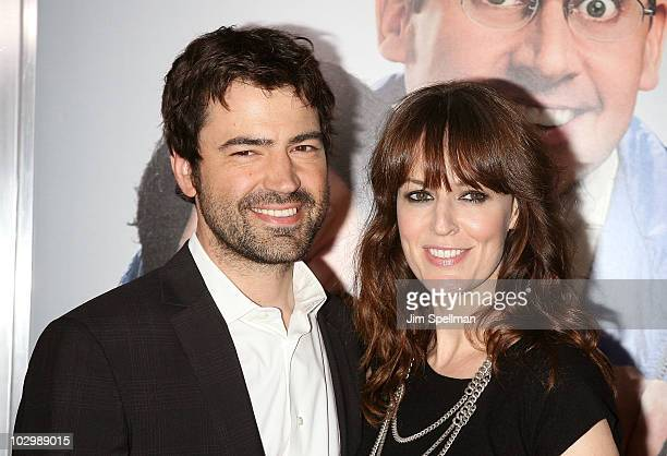 Actor Ron Livingston and Lisa Sheridan attend the Dinner For Schmucks premiere at the Ziegfeld Theatre on July 19 2010 in New York City