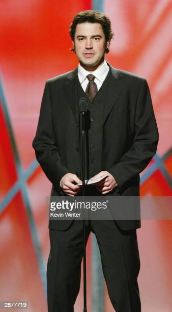 Actor Ron Livingston speaks on stage at 15th Annual Producers Guild Awards held at the Century Plaza Hotel on January 17th 2004 in Century City...