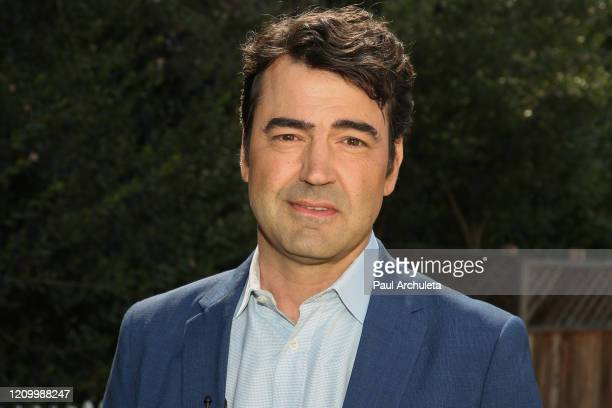 """Actor Ron Livingston visits Hallmark Channel's """"Home & Family"""" at Universal Studios Hollywood on March 02, 2020 in Universal City, California."""