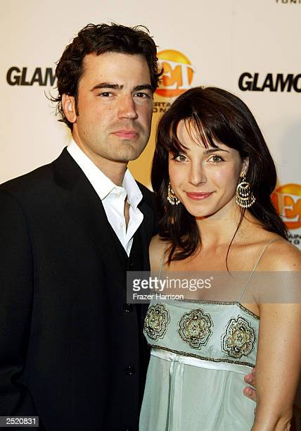 Actor Ron Livingstone and partner Lisa Sheridan arrive at the Entertainment Tonight Emmy Party Sponsored by GLAMOUR held at the Mondrian on September...