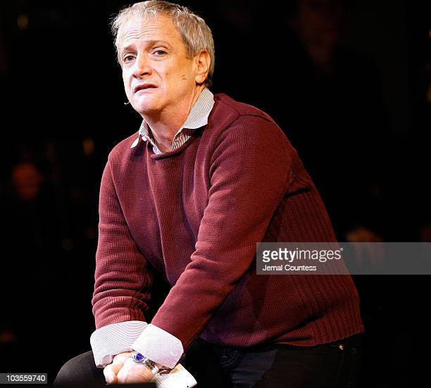 Actor Ron Palillo performs Adelaide's Lament during the 2009 Broadway Backwards at the American Airlines Theatre on February 9 2009 in New York City