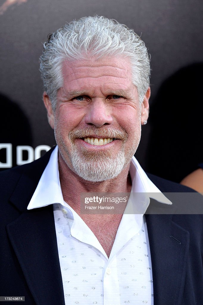 Actor Ron Pearlman arrives at the premiere of Warner Bros. Pictures' and Legendary Pictures' 'Pacific Rim' at Dolby Theatre on July 9, 2013 in Hollywood, California.