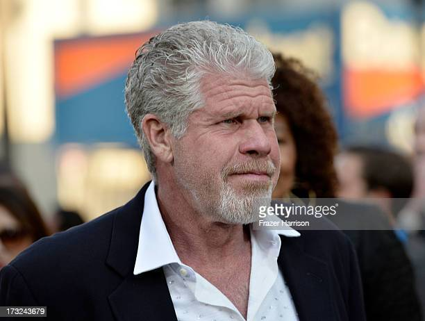 Actor Ron Pearlman arrives at the premiere of Warner Bros Pictures' and Legendary Pictures' Pacific Rim at Dolby Theatre on July 9 2013 in Hollywood...