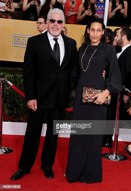 Actor Ron Perlman and actress Blake Perlman attend the 20th Annual Screen Actors Guild Awards at The Shrine Auditorium on January 18 2014 in Los...