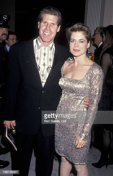 Actor Ron Perlman and actress Linda Hamilton attend 46th Annual Golden Globe Awards on January 28 1989 at the Beverly Hilton Hotel in Beverly Hills...