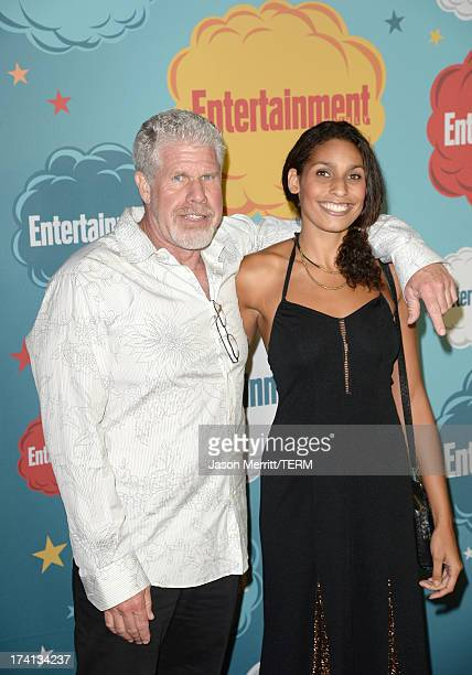 Actor Ron Perlman and daughter actress Blake Perlman attend Entertainment Weekly's Annual ComicCon Celebration at Float at Hard Rock Hotel San Diego...