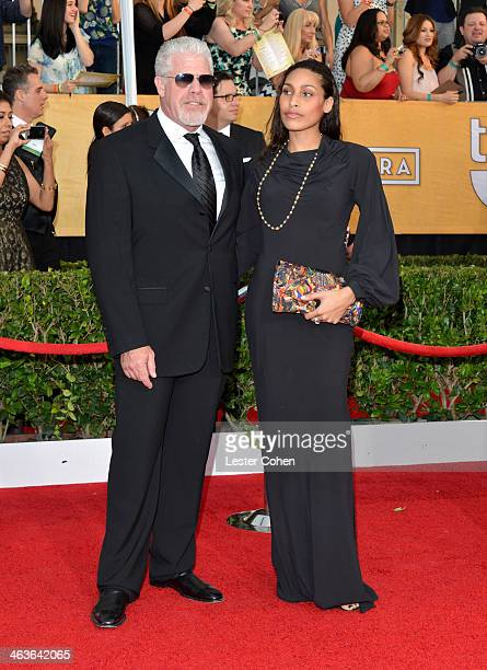 Actor Ron Perlman and daughter Blake Perlman attend the 20th Annual Screen Actors Guild Awards at The Shrine Auditorium on January 18 2014 in Los...