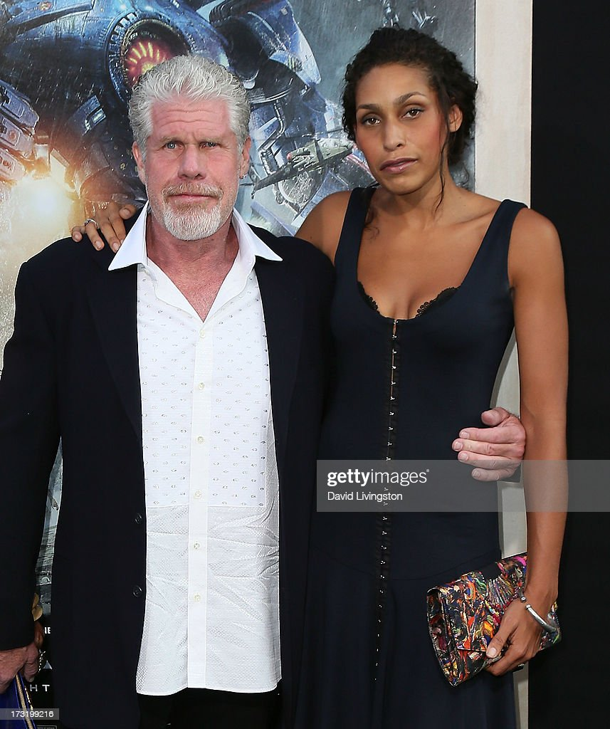Actor Ron Perlman (L) and daughter Blake Perlman attend the premiere of Warner Bros. Pictures and Legendary Pictures' 'Pacific Rim' at the Dolby Theatre on July 9, 2013 in Hollywood, California.