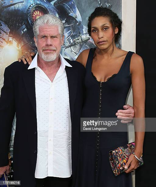 Actor Ron Perlman and daughter Blake Perlman attend the premiere of Warner Bros Pictures and Legendary Pictures' Pacific Rim at the Dolby Theatre on...