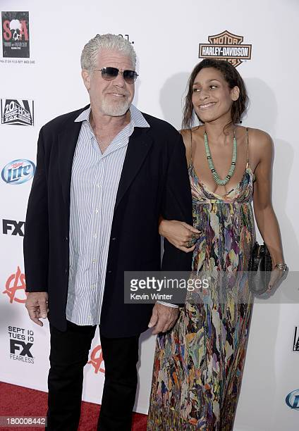 Actor Ron Perlman and daughter Blake Perlman attend the season 6 premiere of FX's Sons Of Anarchy at Dolby Theatre on September 7 2013 in Hollywood...