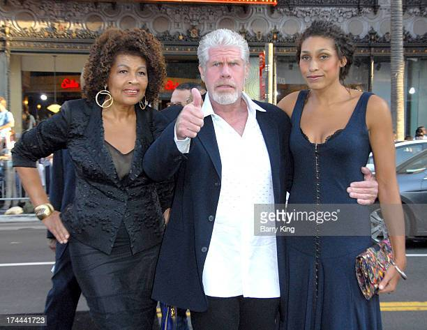 Actor Ron Perlman and family arrive at the Los Angeles Premiere 'Pacific Rim' at Dolby Theatre on July 9 2013 in Hollywood California