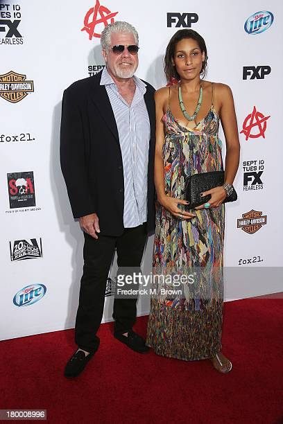Actor Ron Perlman and his daughter Blake Perlman attend the Premiere of FX's Sons of Anarchy Season 6 at the Dolby Theatre on September 7 2013 in...