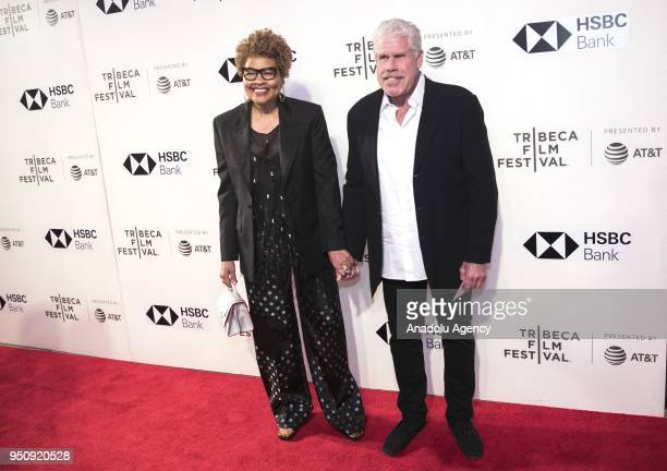 Actor Ron Perlman and his wife Opal Perlman attend a screening of 'Disobedience' during the Tribeca Film Festival at the BMCC Tribeca PAC in New York...
