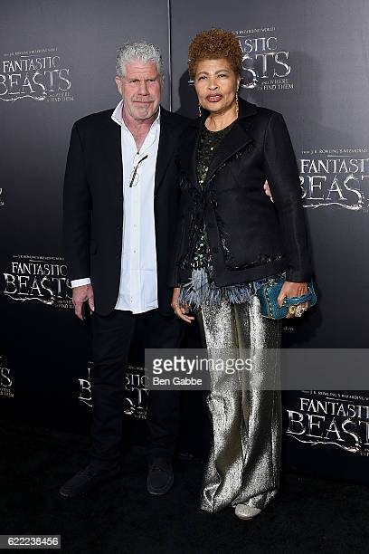 Actor Ron Perlman and jewelry designer Opal Perlman attend the 'Fantastic Beasts And Where To Find Them' World Premiere at Alice Tully Hall Lincoln...