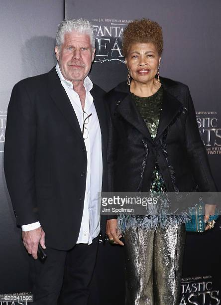 Actor Ron Perlman and Opal Perlman attend the Fantastic Beasts And Where To Find Them world premiere at Alice Tully Hall Lincoln Center on November...