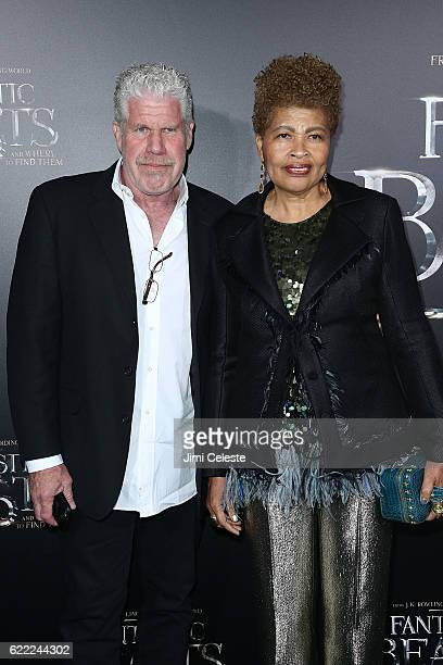 Actor Ron Perlman and Opal Perlman attends Fantastic Beasts And Where To Find Them World Premiere at Alice Tully Hall on November 10 2016 in New York...
