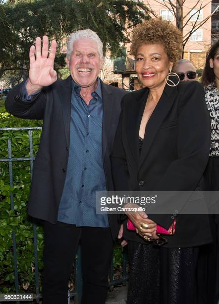 Actor Ron Perlman and Opal Stone arriving to the screening of 'To Dust' during the 2018 Tribeca Film Festival at SVA Theatre on April 22 2018 in New...