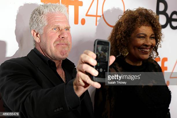 Actor Ron Perlman and Opal Stone Perlman attend the 'Stonewall' premiere during the 2015 Toronto International Film Festival at Roy Thomson Hall on...